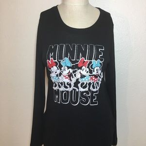 NWT Minnie Mouse Long Sleeve Top teenager Disney